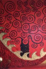 Baum rot: Acryl, Spachtel, Art-metall 80 x 80 cm
